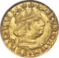 Italy, Italy: Naples & Sicily. Alfonso II of Aragon gold Ducato ND (1494-1495) MS65 NGC,...