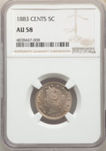 Liberty Nickels: , 1883 5C With Cents AU58 NGC. NGC Census: (97/944). PCGS Population: (227/1334). CDN: $100 Whsle. Bid for problem-free NGC/P...