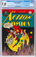 Golden Age (1938-1955):Superhero, Action Comics #81 (DC, 1945) CGC FN/VF 7.0 White pages....