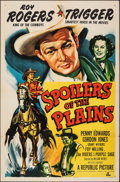 """Movie Posters:Western, Spoilers of the Plains (Republic, 1951). Folded, Very Fine. One Sheet (27"""" X 41""""). Western.. ..."""