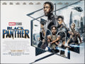 """Movie Posters:Action, Black Panther (Walt Disney Studios, 2018). Rolled, Very Fine+. British Quad (30"""" X 40"""") DS Advance. Action.. ..."""