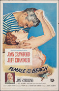 "Movie Posters:Drama, Female on the Beach & Other Lot (Universal International, 1955). Folded, Overall: Fine/Very Fine. One Sheets (2) (27"" X 41"")... (Total: 2 Items)"