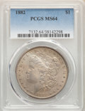 1882 $1 MS64 PCGS. PCGS Population: (6615/2343). NGC Census: (7627/1487). CDN: $92 Whsle. Bid for NGC/PCGS MS64. Mintage...