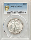 1942 50C MS67+ PCGS. PCGS Population: (364/6 and 55/1+). NGC Census: (370/4 and 5/0+). CDN: $340 Whsle. Bid for NGC/PCGS...