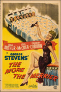 """Movie Posters:Comedy, The More the Merrier & Other Lot (Columbia, 1943). Folded, Fine-. One Sheets (2) (27"""" X 41"""") Style B. Comedy.. ... (Total: 2 Items)"""