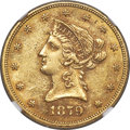 Liberty Eagles, 1879-O $10 MS60+ NGC. Variety 1....