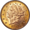 Liberty Double Eagles, 1877-CC $20 MS62 PCGS. Variety 1-B....