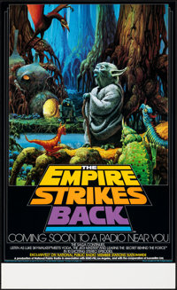 "The Empire Strikes Back (20th Century Fox, 1982). Rolled, Near Mint. NPR Radio Promo Poster (17"" X 28"") Ralph..."