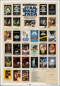 """Movie Posters:Science Fiction, Star Wars Saga Checklist (Kilian, 1985). Rolled, Fine-. One Sheet (27"""" X 41"""") DS. Science Fiction.. ..."""
