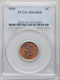 1898 1C MS64 Red and Brown PCGS. PCGS Population: (442/92). NGC Census: (245/153). CDN: $100 Whsle. Bid for problem-free...