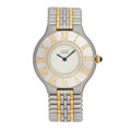Estate Jewelry:Watches, Cartier Lady's Gold, Stainless Steel Must de Cartier 21 Watch. ...