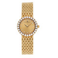 Estate Jewelry:Watches, Baume & Mercier Lady's Diamond, Gold Watch. ...
