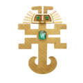 Estate Jewelry:Brooches - Pins, Emerald, Gold Pendant-Brooch. ...