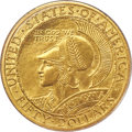Commemorative Gold, 1915-S $50 Panama-Pacific 50 Dollar Round MS64+ PCGS....