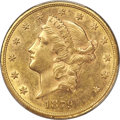 Liberty Double Eagles, 1879-CC $20 AU58 PCGS. Variety 1-A....