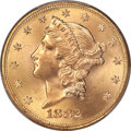 Liberty Double Eagles, 1882-S $20 MS64 PCGS....