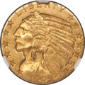 Indian Half Eagles, 1909-O $5 MS61 NGC. Variety 1....
