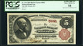 National Bank Notes:Kansas, Holton, KS - $5 1882 Brown Back Fr. 474 The National Bank of Holton Ch. # 5041 PCGS Apparent Choice About New 58.. ...