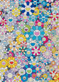 Prints & Multiples, Takashi Murakami (b. 1962). Champagne Supernova: Blue, 2013. Offset lithograph in colors on satin wove paper. 29 x 21 in...