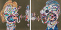 Prints & Multiples, Takashi Murakami (b. 1962). Homage to Francis Bacon (Study for Head of Isabel Rawsthorne and George Dyer), diptych, 2016... (Total: 2 Items)