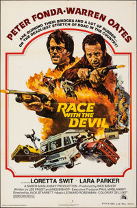 """Race with the Devil & Other Lot (20th Century Fox, 1975). Folded, Fine+. One Sheets (2) (27"""" X 41"""") St..."""