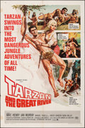 """Movie Posters:Adventure, Tarzan and the Great River & Other Lot (Paramount, 1967). Folded, Overall: Fine. One Sheets (3) (27"""" X 41""""). Adventure.. ... (Total: 3 Items)"""