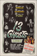 "Movie Posters:Horror, 13 Ghosts (Columbia, 1960). Folded, Very Fine-. One Sheet (27"" X 41""). Horror.. ..."