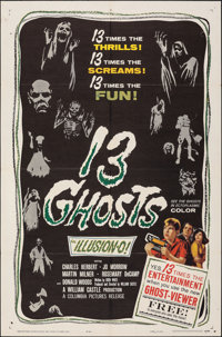 "13 Ghosts (Columbia, 1960). Folded, Very Fine-. One Sheet (27"" X 41""). Horror"