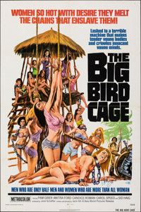 "The Big Bird Cage (New World, 1972). Folded, Very Fine. Autographed One Sheet (27"" X 41""). Joseph Smith Artwor..."