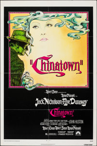 "Chinatown (Paramount, 1974). Folded, Very Fine. One Sheet (27"" X 41""). Jim Pearsall Artwork. Mystery"