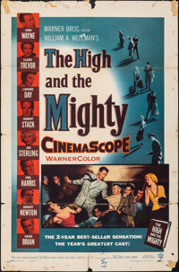 """The High and the Mighty (Warner Bros., 1954). Folded, Very Good+. One Sheet (27"""" X 41""""). Adventure"""