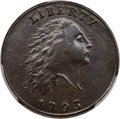 Large Cents, 1793 1C Chain, AMERICA, S-2, B-2, High R.4, AU53 PCGS. CAC...