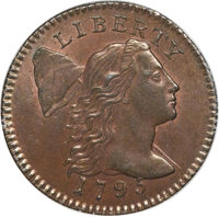 1795 1C Lettered Edge, S-74, B-2, Low R.4, MS64 Brown PCGS. CAC....(PCGS# 35714)