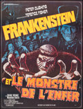 """Movie Posters:Horror, Frankenstein and the Monster from Hell (Europrodis, 1974). Folded, Fine. French Grande (45.5"""" X 61"""") Faugere Artwork...."""