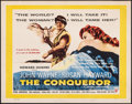 """Movie Posters:Action, The Conqueror (RKO, 1956). Rolled, Fine/Very Fine. British Half Sheet (22"""" X 28""""). Action.. ..."""