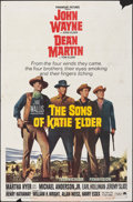 "Movie Posters:Western, The Sons of Katie Elder (Paramount, 1965). Folded, Fine-. One Sheet (27"" X 41""). Western.. ..."
