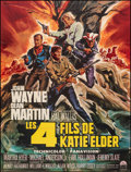 "Movie Posters:Western, The Sons of Katie Elder (Paramount, 1965). Folded, Fine/Very Fine. Full-Bleed French Grande (45.25"" X 59.5"") Michel Landi Ar..."