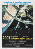"Movie Posters:Science Fiction, 2001: A Space Odyssey (CIC, R-1970). Folded, Very Fine. Italian 2 - Fogli (39.25"" X 55""). Robert McCall Artwork. Science Fic..."