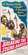 "Movie Posters:Action, Breaking the Sound Barrier (United Artists, 1952). Folded, Fine/Very Fine. Three Sheet (41"" X 79""). Action.. ..."