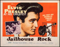 "Movie Posters:Elvis Presley, Jailhouse Rock (MGM, 1957). Folded, Very Fine-. Half Sheet (22"" X 28"") Style B, Bradshaw Crandell Artwork. Elvis Presley.. ..."