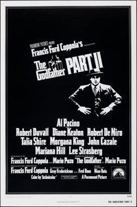 """The Godfather Part II (Paramount, 1974). Rolled, Very Fine+. International One Sheet (27"""" X 41""""). Crime"""