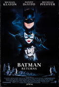 "Movie Posters:Action, Batman Returns (Warner Bros., 1992). Rolled, Very Fine-. One Sheet (27"" X 40.25"") DS Advance, John Alvin. Action.. ..."