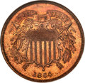 Proof Two Cent Pieces, 1864 2C Large Motto PR66 Red and Brown NGC....