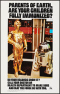 Movie Posters:Science Fiction, Star Wars Immunization Poster (U.S. Department of Health, Education, and Welfare, 1979). Rolled, Very Fine+. Poster (...