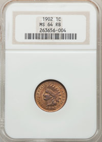 1902 1C MS64 Red and Brown NGC. NGC Census: (376/204). PCGS Population: (753/156). CDN: $95 Whsle. Bid for problem-free...
