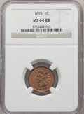 1895 1C MS64 Red and Brown NGC. NGC Census: (206/95). PCGS Population: (323/63). CDN: $140 Whsle. Bid for problem-free N...