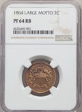 1864 2C Large Motto PR64 Red and Brown NGC....(PCGS# 3622)