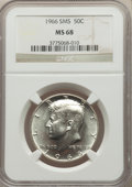 SMS Kennedy Half Dollars, 1966 50C SMS MS68 NGC. NGC Census: (24/0). PCGS Population: (123/0). Mintage 2,200,000. ...