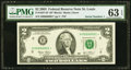 Small Size:Federal Reserve Notes, Serial Number One Fr. 1937-H* $2 2003 Federal Reserve Note. PMG Choice Uncirculated 63 EPQ.. ...