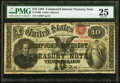 Fr. 190b $10 1864 Compound Interest Treasury Note PMG Very Fine 25
